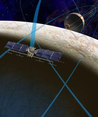 Artist's Concept of NASA's Europa Probe