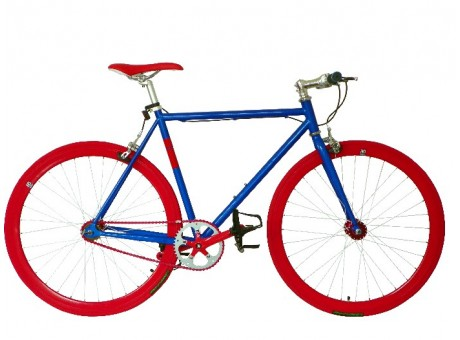 Red blue bike