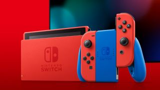 Nintendo Switch Mario Red and Blue console