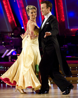 A nervous Gillian Taylforth followed with a foxtrot - and the judges tried to be kind