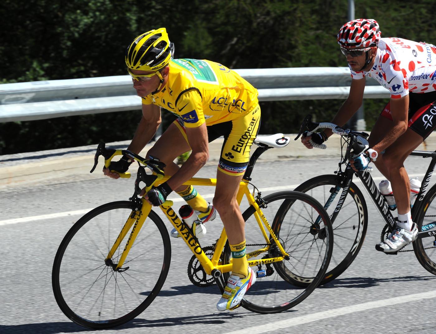 Thomas Voeckler and Jelle Vanendert, Tour de France 2011, stage 17