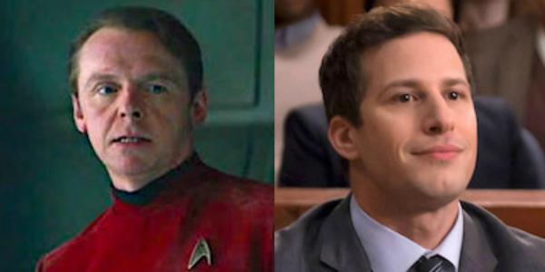Simon Pegg Star Trek Andy Samberg Brooklyn Nine-Nine