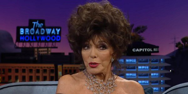 Joan Collins The Late Late Show With James Corden CBS