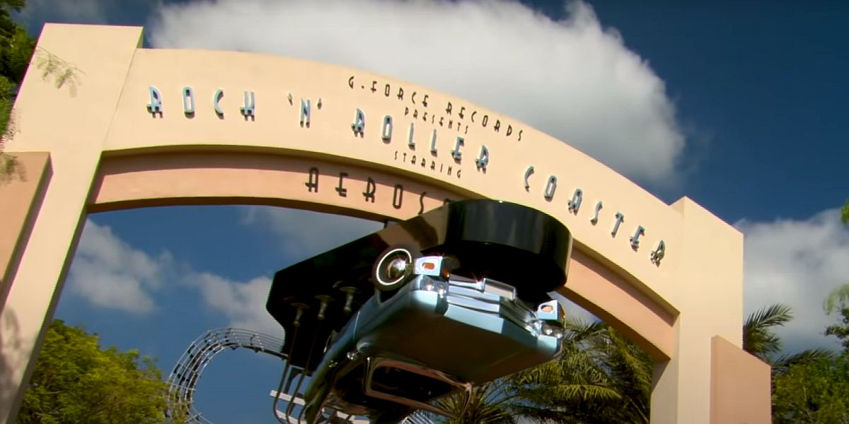 The Rock N' Roller Coaster Starring Aerosmith attraction entrance