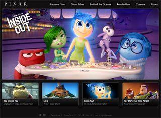 Design team creates incredible Pixar website concept