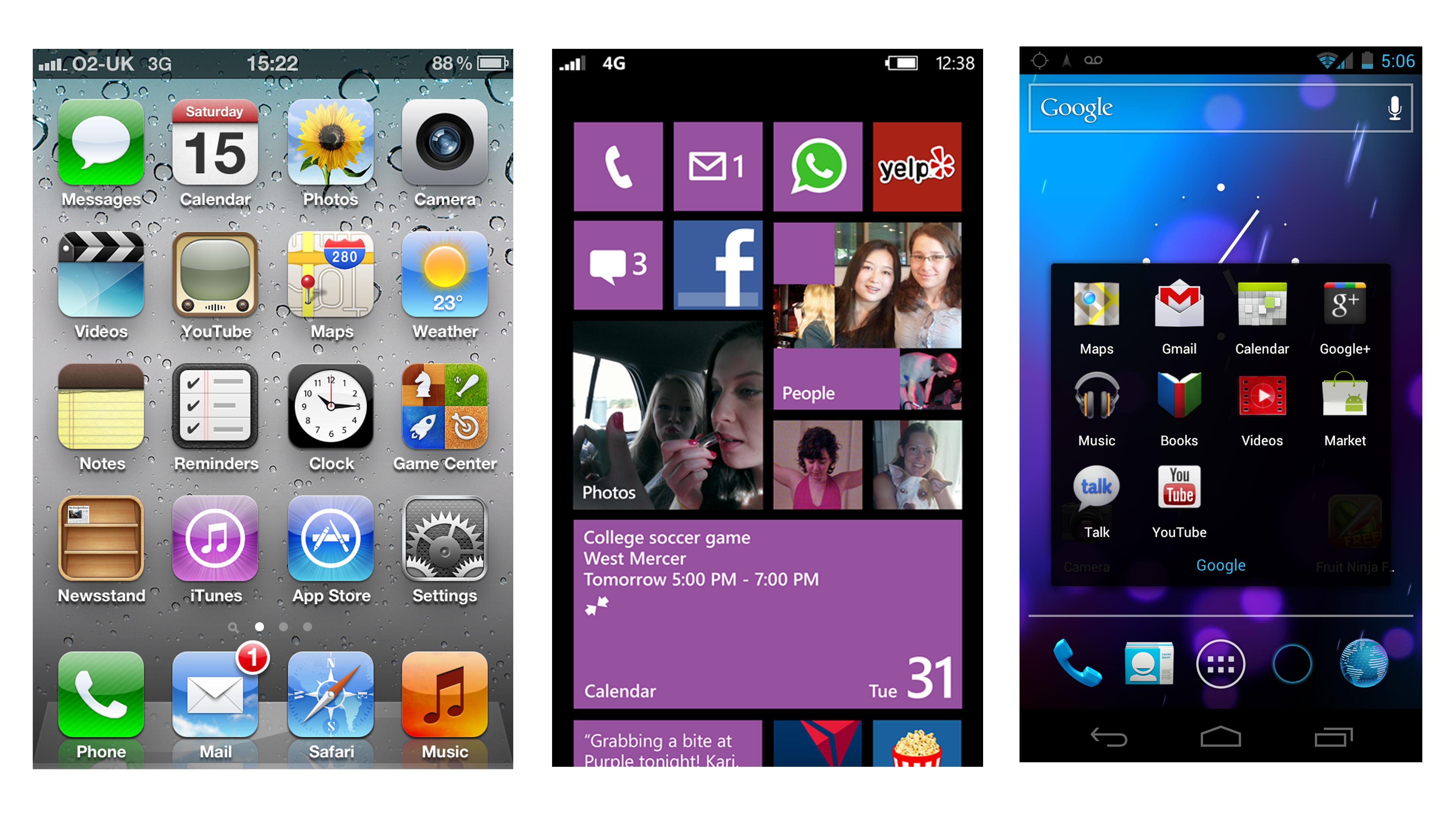 Android 4 1 vs Windows Phone 8 vs iOS 6 | TechRadar