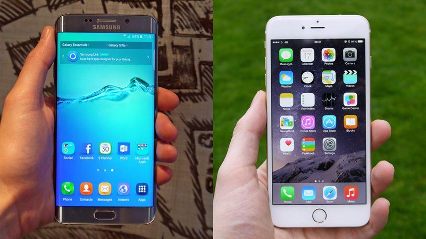 samsung galaxy s6 edge vs iphone 6 plus techradar