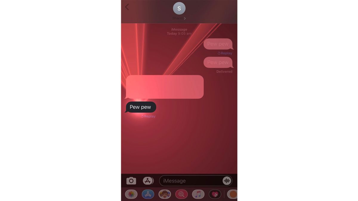 Iphone Messaging Secret Lets You Type Pew Pew To Send A Laser Light Show Techradar