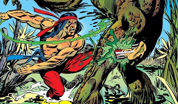 Shang-Chi fighting Man-Thing