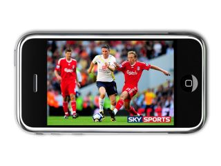 iPhone showing Sky Mobile TV