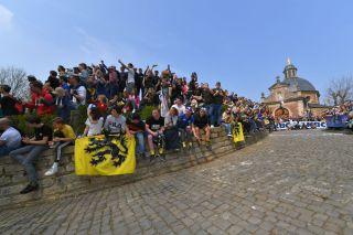 De Muur van Geraardsbergen / Cobblestones / Fans / Public / Landscape / during the Tour of Flanders 2019
