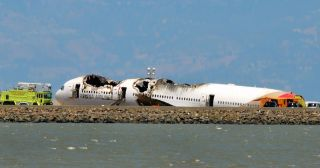 This photo shows Asiana Airlines Flight 214 three days after the crash.