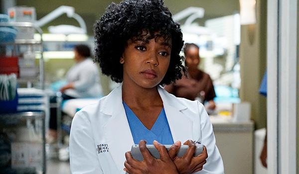 Jerrika Hinton as Stephanie Edwards on Grey's Anatomy