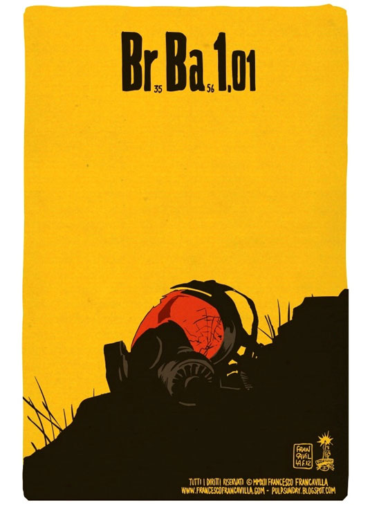 Minimalist posters for every episode of Breaking Bad