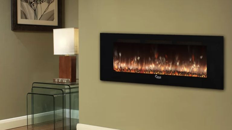 Manrique Wall Mounted Electric Fireplace Insert