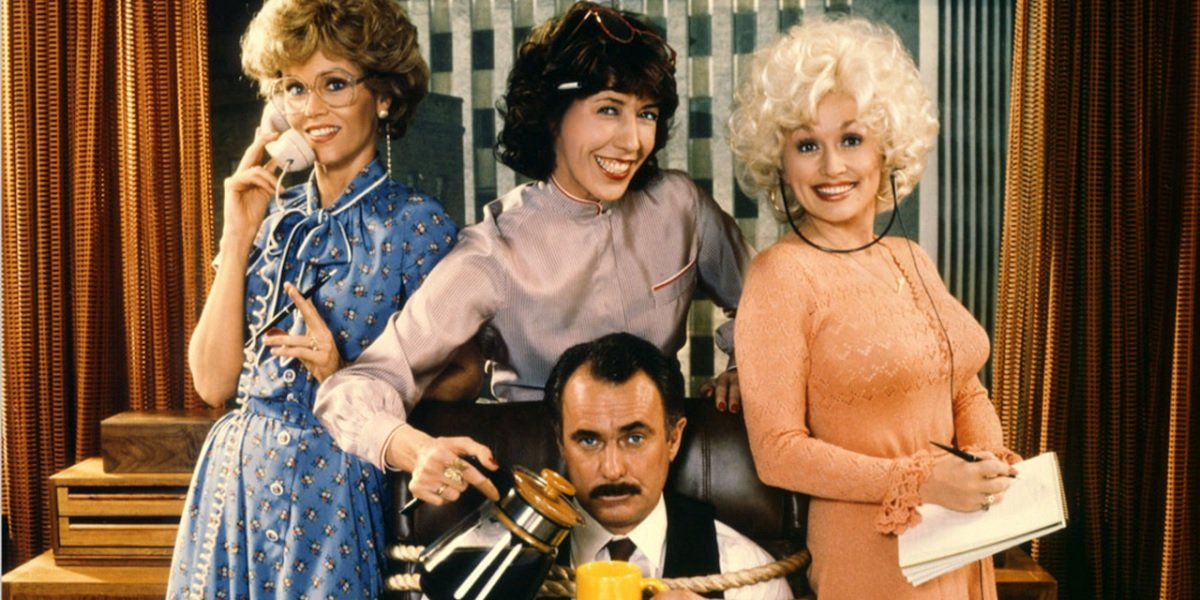Jane Fonda, Dolly Parton, Lily Tomlin, and Dabney Coleman in 9 to 5