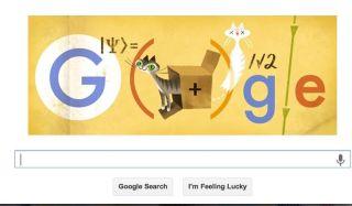 google doodle of schrodinger's cat