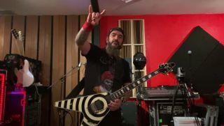 Machine Head's Robb Flynn plays Van Halen's Eruption
