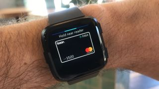 You can't make contactless payments with the Versa Lite. Image credit: TechRadar