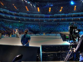 Sky - filming at the O2