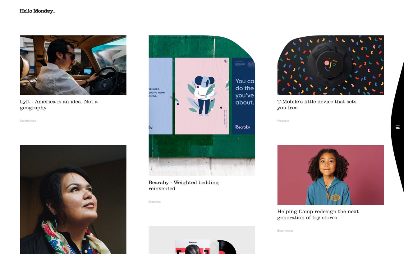 6 of the best new portfolio sites: Hello Monday