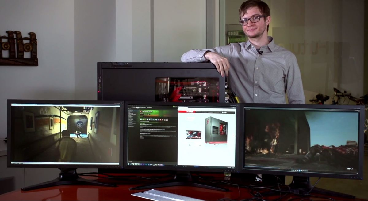 The Large Pixel Collider Now With Monitors Pc Gamer