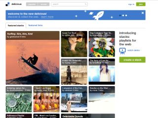 Delicious relaunches with new look and link playlists