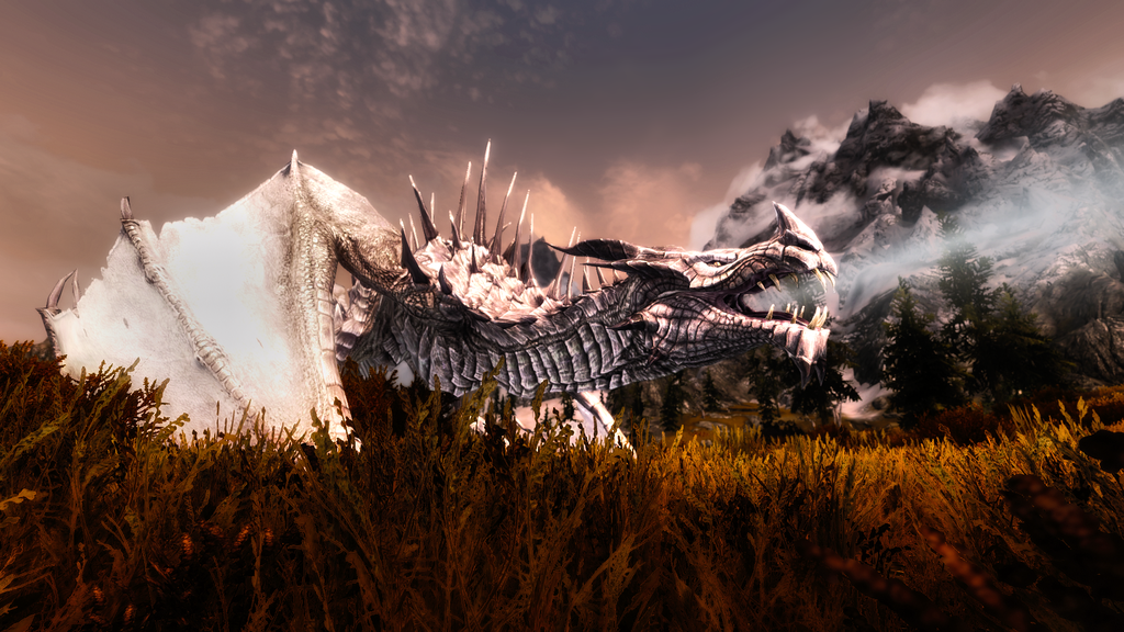the best skyrim mods: enhanced mighty dragons reborn