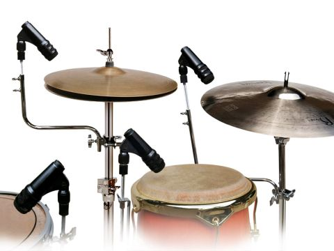 These chrome-plated steel Mic Holders have more in common with regular drum hardware than your typical mic clip.