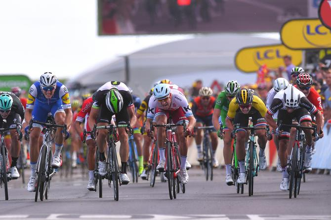 Marcel Kittel wins stage 7 of the Tour de France.