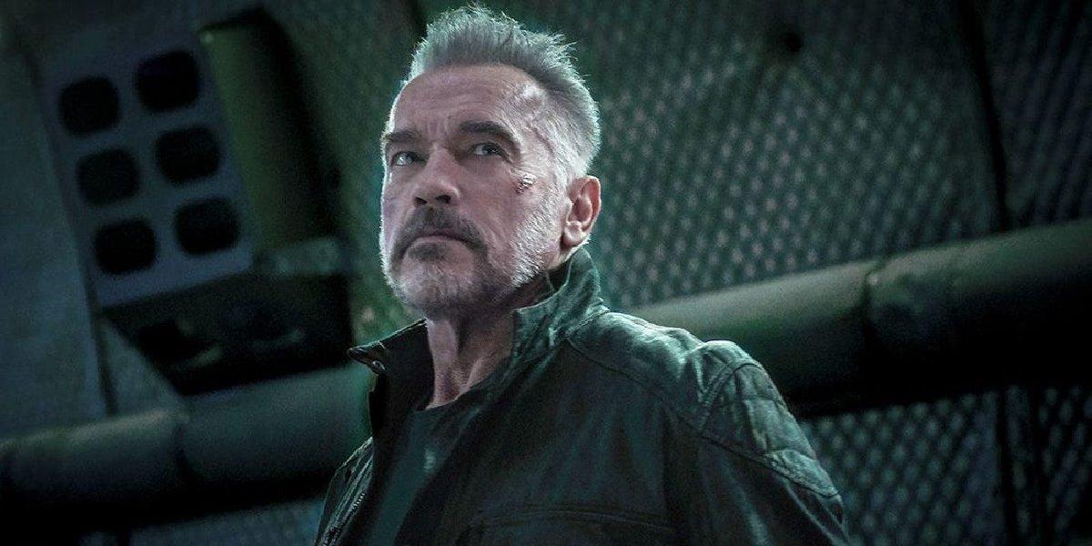 Terminator: Dark Fate Carl in the cargo hold of a plane