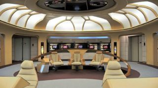 Display Version of Bridge Set from Star Trek: The Next Generation