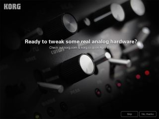 This screen is currently appearing when you open Korg's iMS-20 on the iPad.