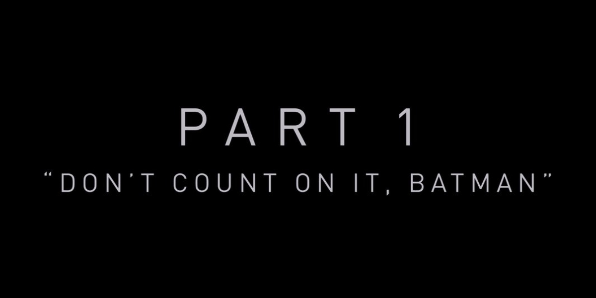 A chapter title card from Zack Snyder's Justice League