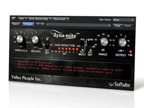 Dyna-mite is a very application-specific processor that works best for pop and rock.