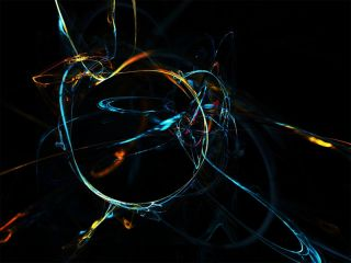 abstract image represents string theory