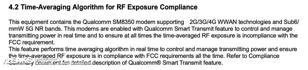 Galaxy S21 FCC filing