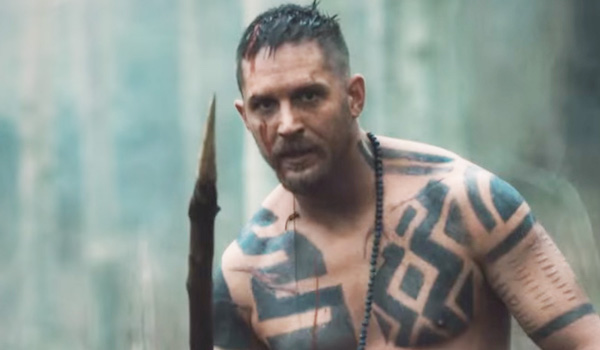 tom hardy holding a spear taboo