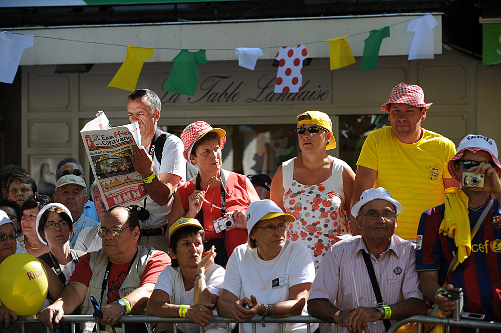 Luchon crowd, Tour de France 2010 by Andy Jones