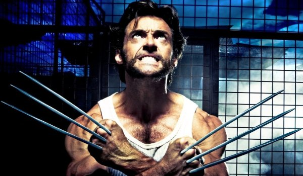 X-Men Origins: Wolverine popping his claws in a smokey research lab