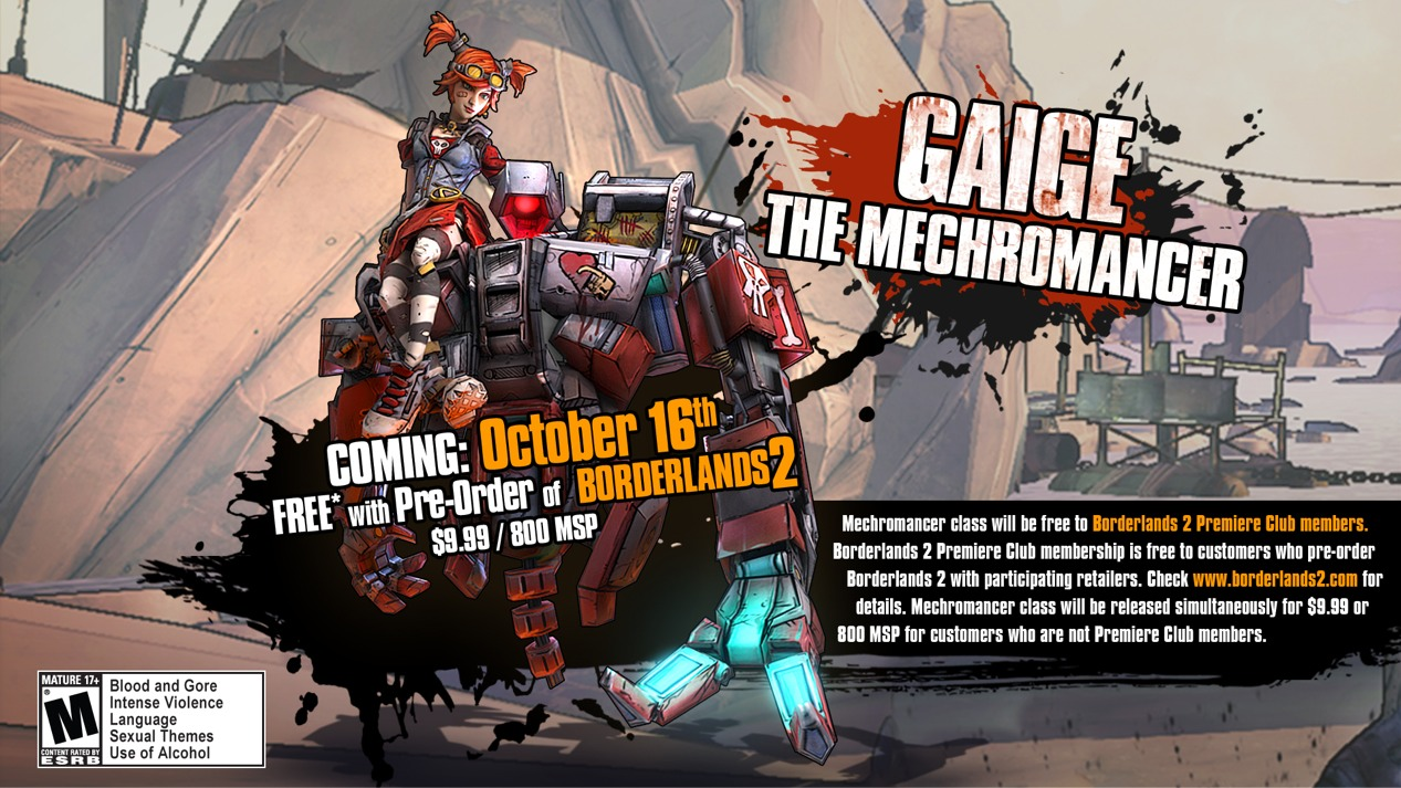 borderlands 2 how to get mechromancer for free