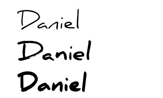 Free handwriting fonts: Daniel