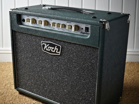 The Koch Jupiter 1 x 12's green vinyl-clad exterior oozes understated cool.