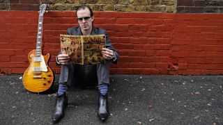 Bonamassa replicating the iconic 'Beano' cover with his own 'Burst back in 2011