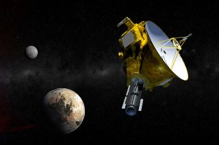 New Horizons Approaching Pluto (Artist's Illustration)