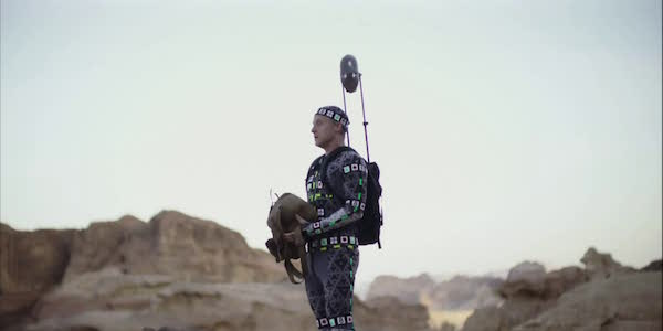 Alan Tudyk in his motion capture suit