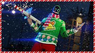 The GTA Online festive sweater.