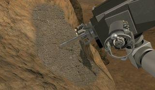 Mars Rover Curiosity Drill