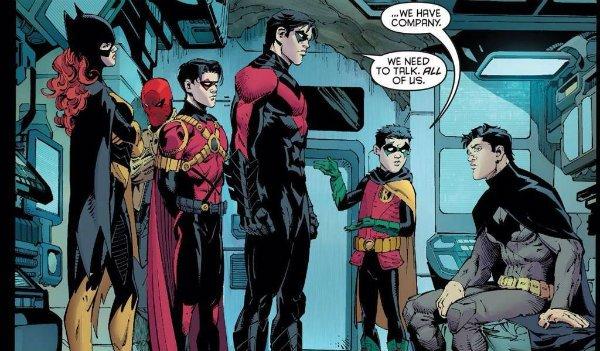 The Bat Family Batman Nightwing Robin Batgirl Red Hood