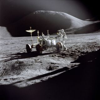 space history, lunar roving vehicle, mount hadley